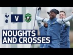 HUMAN NOUGHTS AND CROSSES IN TRAINING! Spurs train ahead of Ludogorets at Hotspur Way.
