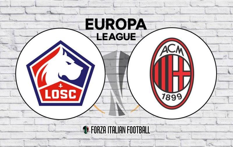 Lille v AC Milan: Official Line-Ups