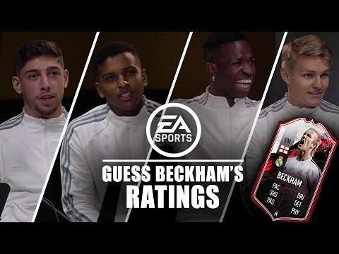 ? Ødegaard, Rodrygo, Vini & Valverde guess Beckham's FIFA 21 stats!